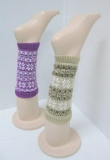 Leg warmer with snowflake pattern