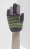 stripes neon magic gloves