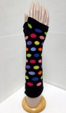 colorful polka arm warmers knitting pattern