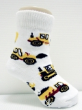 Tool Cars Baby Boy socks with rubber soles