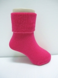 Pink Baby socks with rubber soles