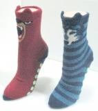 Animals stripe shape slip anklet sock