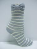classic bows merino wool socks