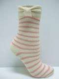 dress merino wool socks with bow design