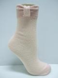 merino wool socks with bow design