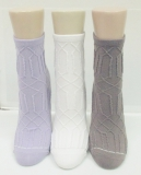 Bamboo reverse knit ankle sock
