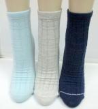 Bamboo reverse raised design ankle sock