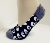 skull mens socks cotton black socks men