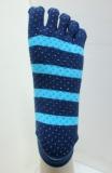 Unisex stripe anti slip 5 toe yoga pilates sock