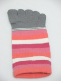 ladies designed 5 toe sock