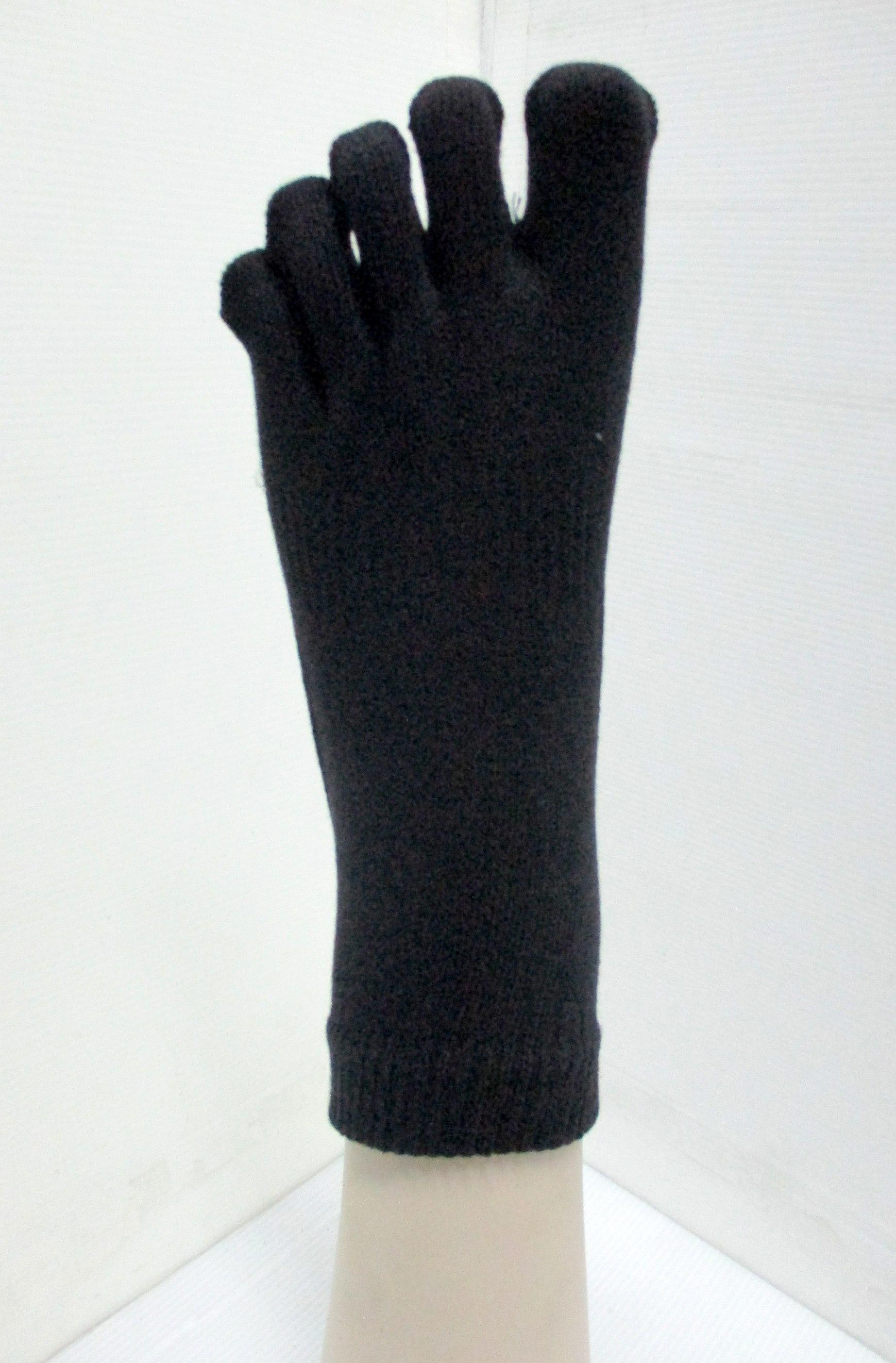 solid comfortable 5 toe sock