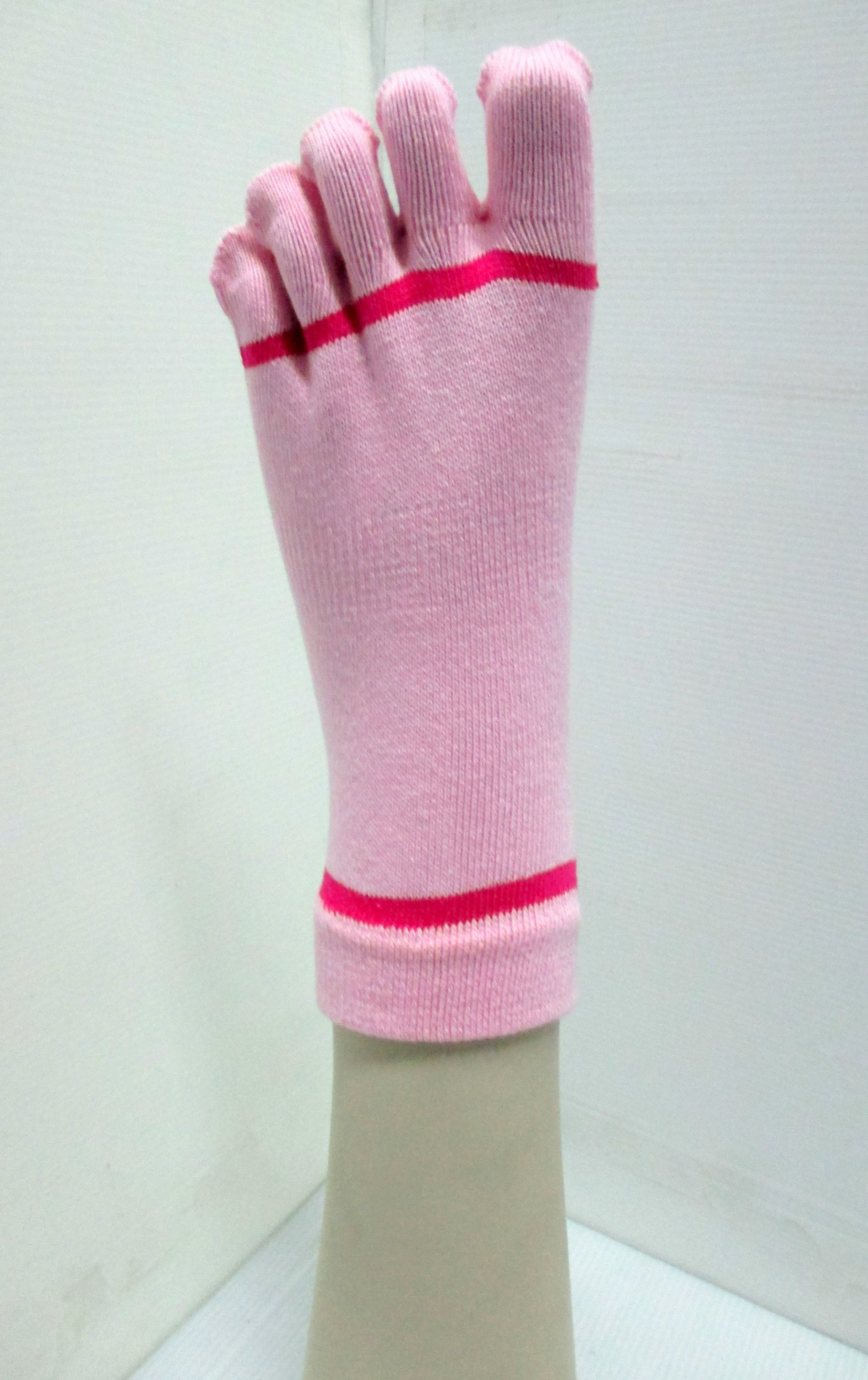 ladies stripe yoga pilates 5 toe non-slip sock