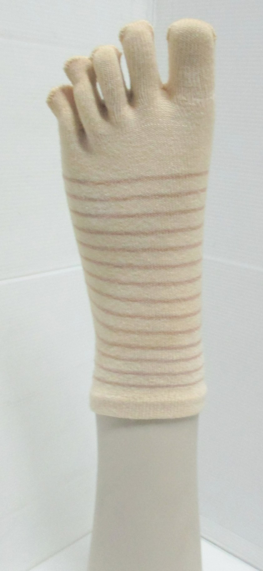 simply stripe custom 5 toe sock