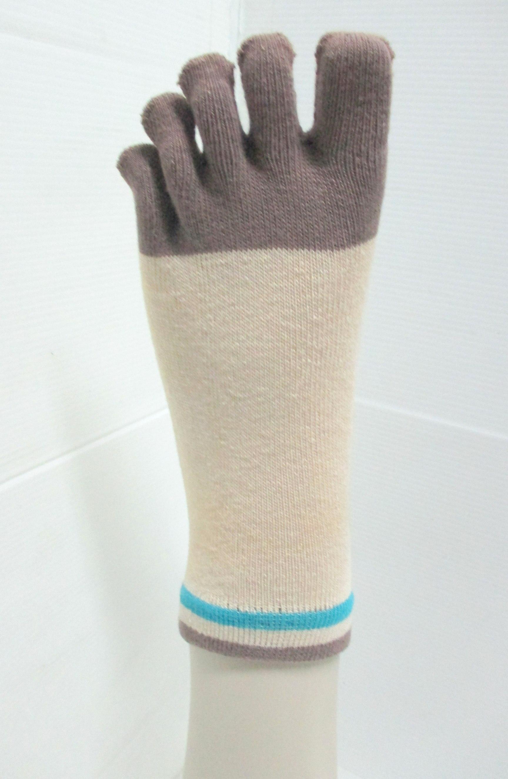 natural 5 closed toe sock