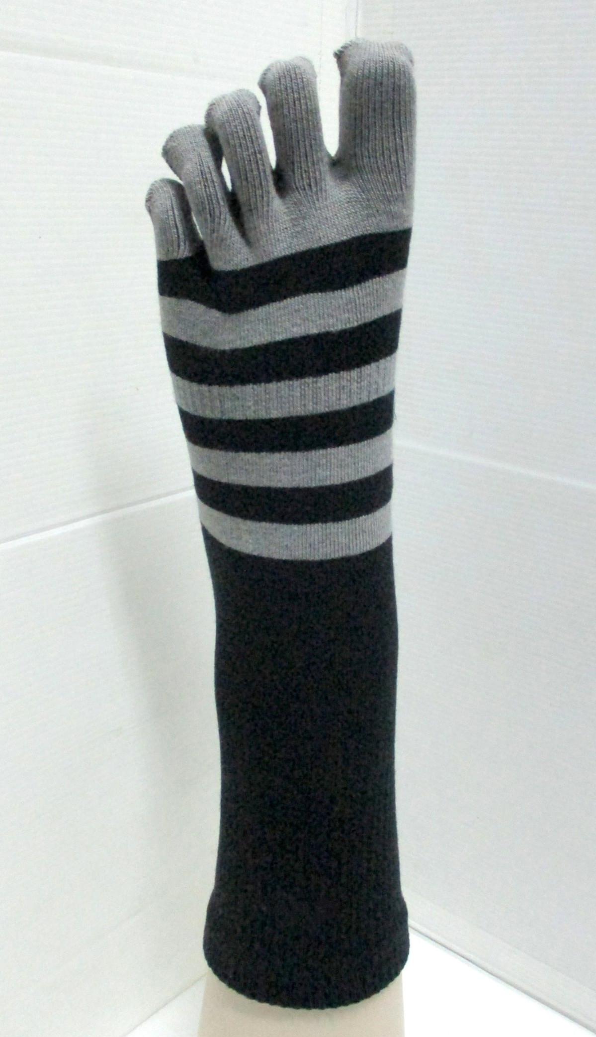 Crew 5 toe simply striped sock